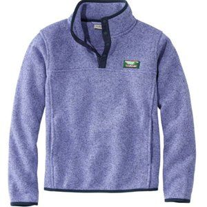 NWOT LL Bean Lilac Pullover Sweater Snap Fleece